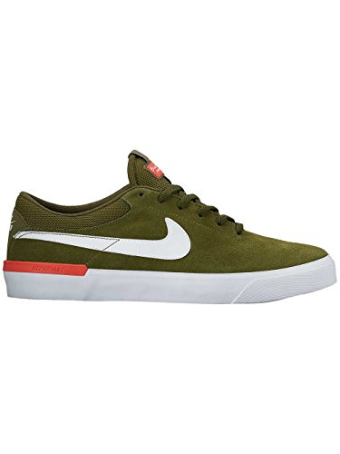 Nike Men's SB Koston Hypervulc Legion Green/White/Max Orange Skate Shoe 10.5 Men US by NIKE