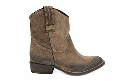 11303ad90 Image Unavailable. Image not available for. Colour: L1404TPS Wrangler Shoes  Womens Taupe Leather Studded Cowboy Boots Sizes UK 7