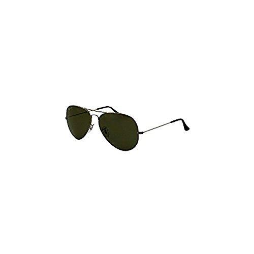 Ray-Ban Sunglasses - RB3025 Aviator Large Metal / Frame: Gunmetal Lens: Crystal Green Polarized (58 mm)