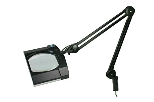 V-LIGHT Energy-Saving 7.6W LED Heavy-Duty 5 Diopter Magnifier Lamp, Black (VSL17261JB)