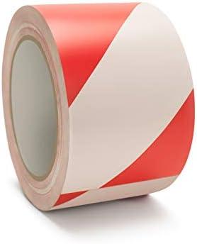"""通路マーキングテープPVC安全テープShieldブランドレッド/ホワイト色2"""" x 36ヤード24Rolls"""