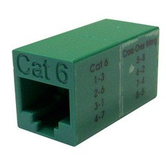 - QualConnectTM Cat6 Crossover Coupler, Green, RJ45 Female, Unshielded