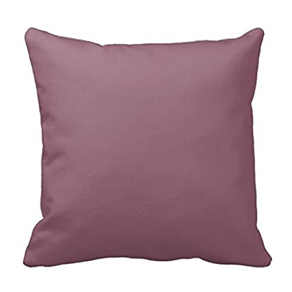 Amazon Mauve Taupe Decorative Solid Color Toss Pillow Case Cool Mauve Decorative Pillows