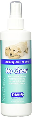 Taste Powerful Deterrent (Davis No Chew Training Aid for Pets Spray, 8 oz)