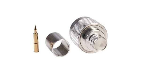 Amazon.com: RF/Coaxial Connector, N Type, Straight Plug, Crimp, 50 ohm, RG8, RG8A, RG213, Brass: Industrial & Scientific