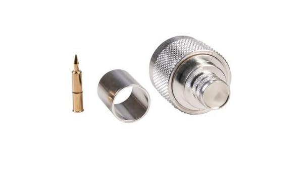 Amazon.com: RF/Coaxial Connector, N Type, Straight Plug, Crimp, 50 ohm, RG8, RG8A, RG213, Brass: Industrial & Scientific