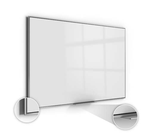 Ghent Manufacturing SIO45AM 47.62 x 59.62 in. Premium Aluminum Frame Simplicity Magnetic High Performance Acrylite Surface Whiteboard from Ghent