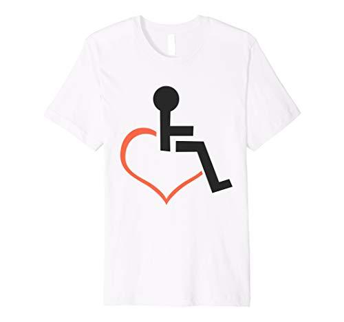 'Heart Shaped Wheelchair' Hilarous Wheelchair Gift Shirt (Wheelchair Centers Lavatory 4')