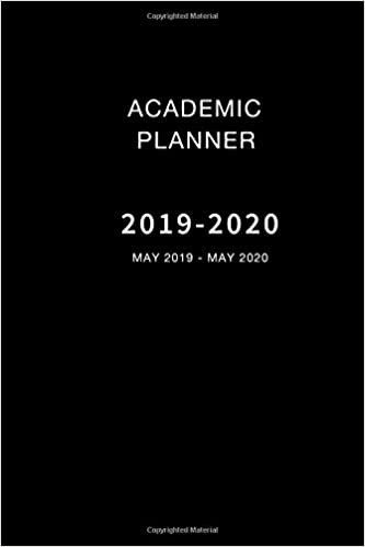 picture about May Books Planner known as Educational Planner 2019-2020 May perhaps 2019 - May well 2020: Weekly and