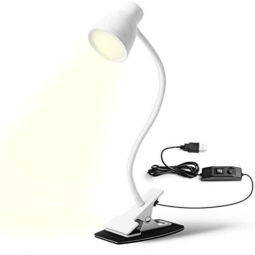 HOT Sale-USB Plug in Reading Light,3 Color Temp(3000K, 4000K, 6500K) Warm-Normal-Cold 6 Modes Book Lights for Reading in Bed Clip On Desk Lamp Eye for Kids, Caring (Book Set Light)