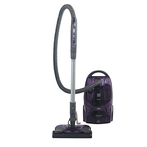 Kenmore 81614 Friendly Lightweight Bagged Canister Vacuum with Pet PowerMate, Pop-N-Go Brush, 2 Motors, HEPA, Aluminum Telescoping Wand, Retractable Cord, and 3 Cleaning Tools, 600 Series, Purple