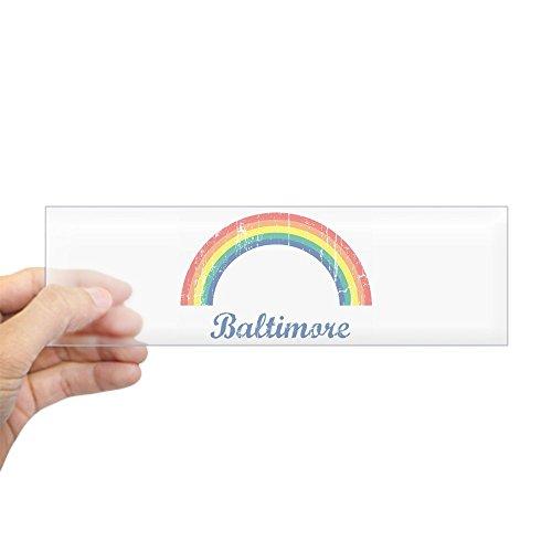 (CafePress Baltimore (Vintage Rainbow) Bumper Sticker 10