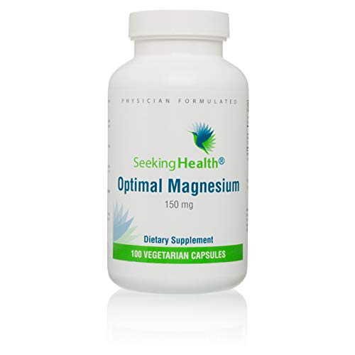 Optimal Magnesium | 100 Vegetarian Capsules | Seeking Health | Provides 150 mg of Pure Magnesium | Magnesium Supplement