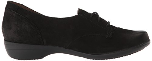 Burnished Women's Nubuck Fallon Black Oxford Flat Dansko Xx8U4wAqq