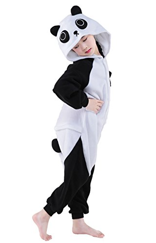 Olasante Unisex Child Kid Panda Cosplay Costume Pajamas Masquerade Costume Jumpsuit Outfit,10-125