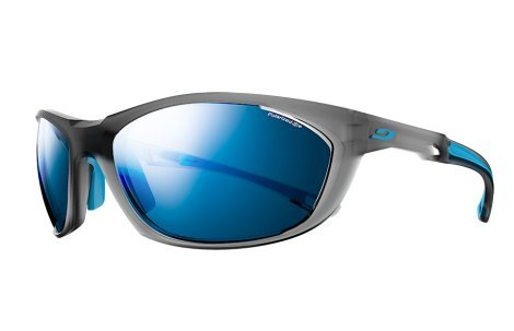 Julbo Race 2.0 Sunglasses, Matte Gray/Blue, - Julbo Fit Asian