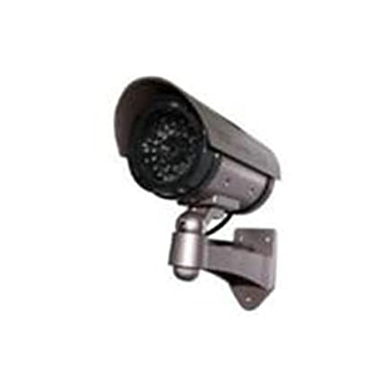 Amazon outdoor fakedummy security camera with blinking light outdoor fakedummy security camera with blinking light color dark grey with hues mozeypictures Choice Image