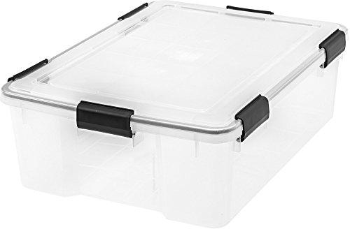 IRIS 41 Quart WEATHERTIGHT Storage Box, 4 Pack, Clear