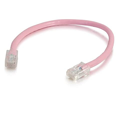 C2G/Cables to Go 00631 Cat5E Non-Booted Unshielded (UTP) Network Patch Cable, Pink (25 Feet/7.62 - 25' Pink Cat5e Patch