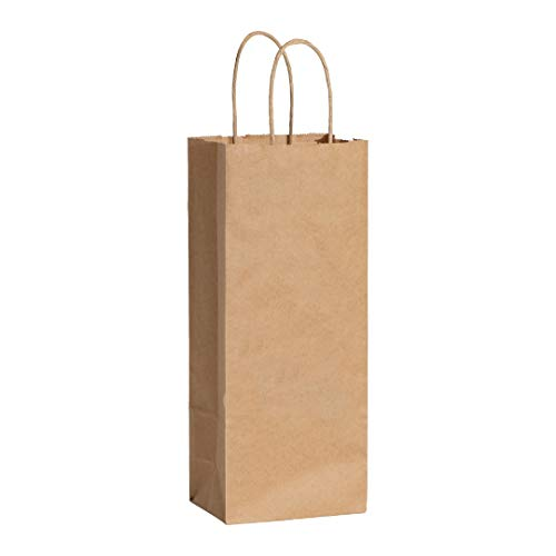 (CISK Paper Wine Gift Bags with Handles   25pcs   Gift bags, Party Bags, Brown Paper bags   Great for Shopping, Retail, Packaging, Crafts, Party, Gifts, Wedding, Recycled paper, Retail)
