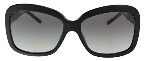 Burberry BE4173 300111 Black BE4173 Rectangle Sunglasses Lens Category 2 Size 5 Burberry Womens Sunglasses