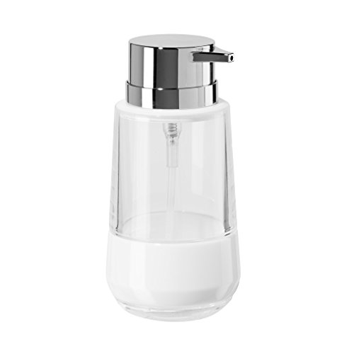 Oggi Band 11oz Acrylic Lotion and Soap Dispenser for Kitchen or Bath-White