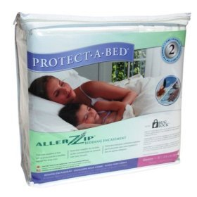 AllerZip Smooth Waterproof Bed Bug Proof Zippered Bedding Encasement, Cal King, (Fits 13 - 18 in. H) by Protect A Bed