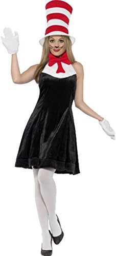 [Cat In The Hat Costume Uk Dress 8-10] (Cat In The Hat Costume Uk)