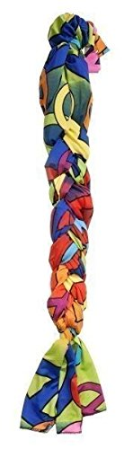 Tough-1 Colorful Peace Signs Lycra Braid in Tail Bag Horse Tack