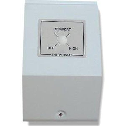 King BKT2-TP K-Series Built-In Tamperproof Thermostat Kit DPST, Almond by King Electric