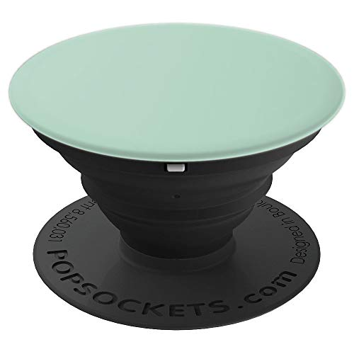Pistachio plain solid Hue color, Mint, Gray colors - PopSockets Grip and Stand for Phones and Tablets ()