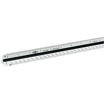 Alvin 240P 12'' High Impact Plastic Architect Triangular Scale by Alvin