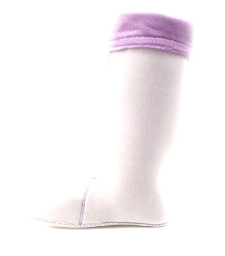 Luckers Mujeres Fleece RainBotas Liners Purple