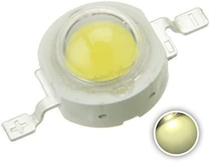 1W Power 100-110LM 2 Terminal White Light LED Lamp Diodes Beads 10pcs
