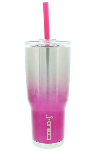 reduce COLD-1 Ombre Insulated Stainless Steel Thermal Tumbler, 24oz (Pink) (Drink 1)