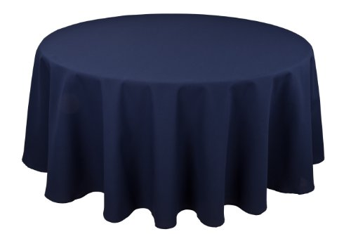 Permalux Tablecloths Blue - RIEGEL Permalux Cottonblend 90-Inch Round Tablecloth, Flag Blue