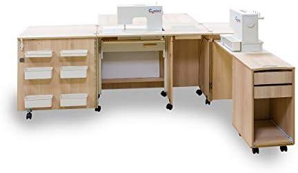 Comfort 4 | Mueble para máquina de coser | (Premium White, L (Air ...