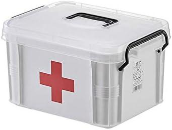 Obubble 薬箱 救急箱・救急セット 携帯用 薬ケース 収納ボックスフ 物品棚 多機能収納ケース 家庭用多層大容量ポータブルストレージピルボックス ポータブル救急キット