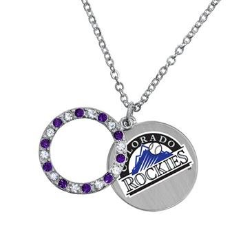 Game Time Offical MLB COLORADO ROCKIES Disc Necklace