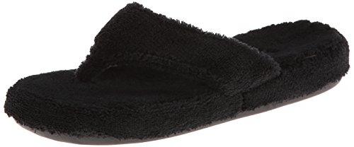 Acorn Women's Spa Thong with Premium Memory Foam Black