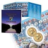 Presidential Dollar Coin Album W/P&D Washington BU Coins
