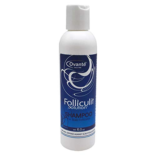 Folliculitis Anti-Bacterial, Anti-Fungal Shampoo, Treatment of Fungal Bacterial, Infection of Hair Follicles, Ringworm, Itching-Greasy Scalp, Dandruff, Scalp Folliculitis - 6.0 oz