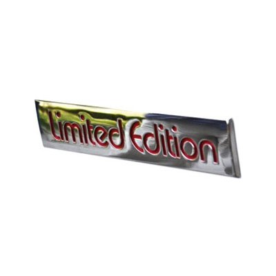 LIMITED EDITION Chrome Badge Emblem with 3D engraved red lettering 4.17 x 0.87 inch  Authentic Magnum