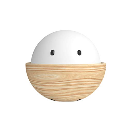 110mL Desktop Humidifier Atmosphere Light Mini Silent Aromatherapy Machine USB Car Bedroom Office Air Humidifier (Color : Wood+White)