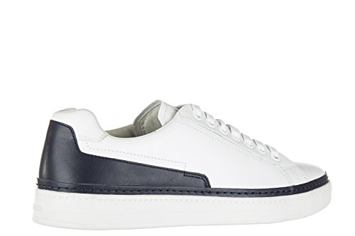 Prada chaussures baskets sneakers homme en cuir nevada calf blanc