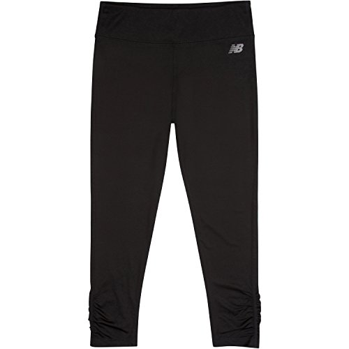 New Balance Big Girls' Performance Tight, Black, (New Balance Comfort Pant)