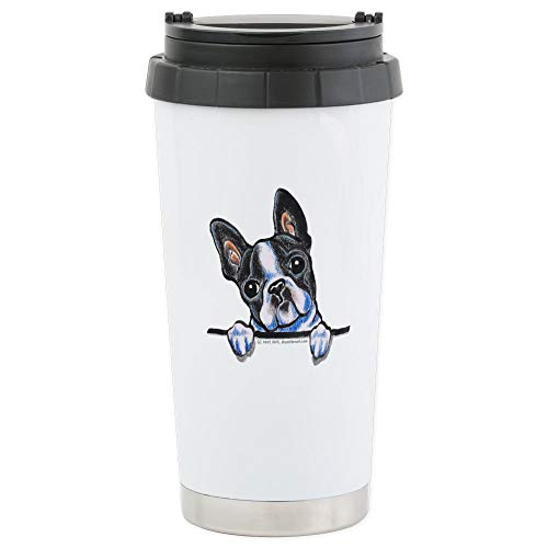 CafePress Curious Boston Stainless Steel Travel Mug Stainless Steel Travel Mug, Insulated 16 oz. Coffee Tumbler