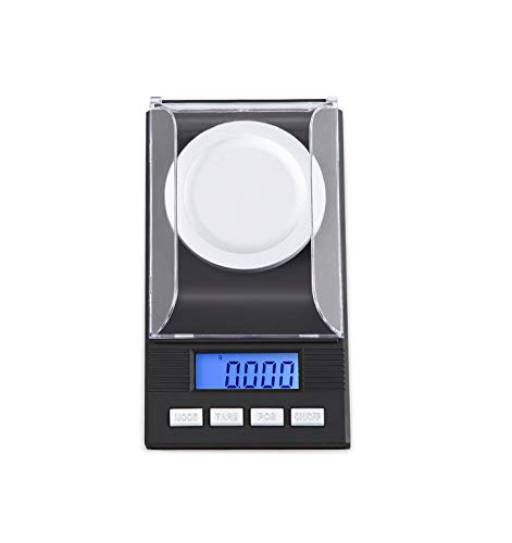 E-KIA Jewelry Electronic Weighing Scale Mini Scale,Portable Electronic Scale,Multiple Unit Conversions,0.001g High Precision, Measuring ()
