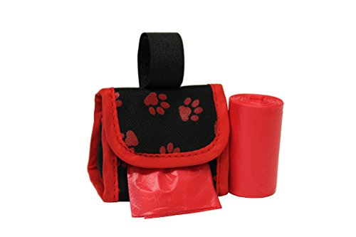 Five Star Pet Purse Dispenser with 2 Rolls Refill Bags (Red Paw)
