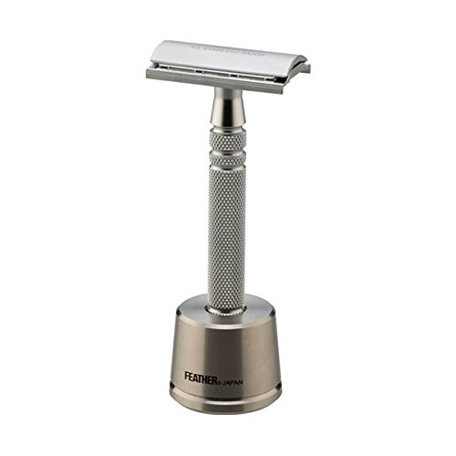 Jatai Feather Stainless Steel Double Edge Razor with Stainless Steel Stand, Extra Blades, & Gift Box by Jatai Feather